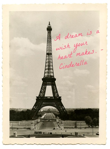Vintage Eiffel Tower dream
